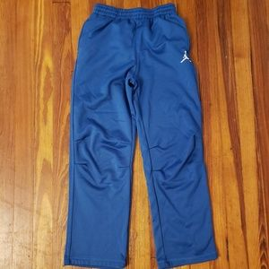 KIDS BOYS JORDAN BLACK BLUE SWEATPANTS FLEECE PANT